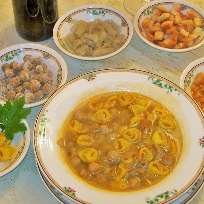 zuppe ricette tipiche della cucina Bolognese, cucina casalinga a Borgo delle Vigne in provincia di Bologna