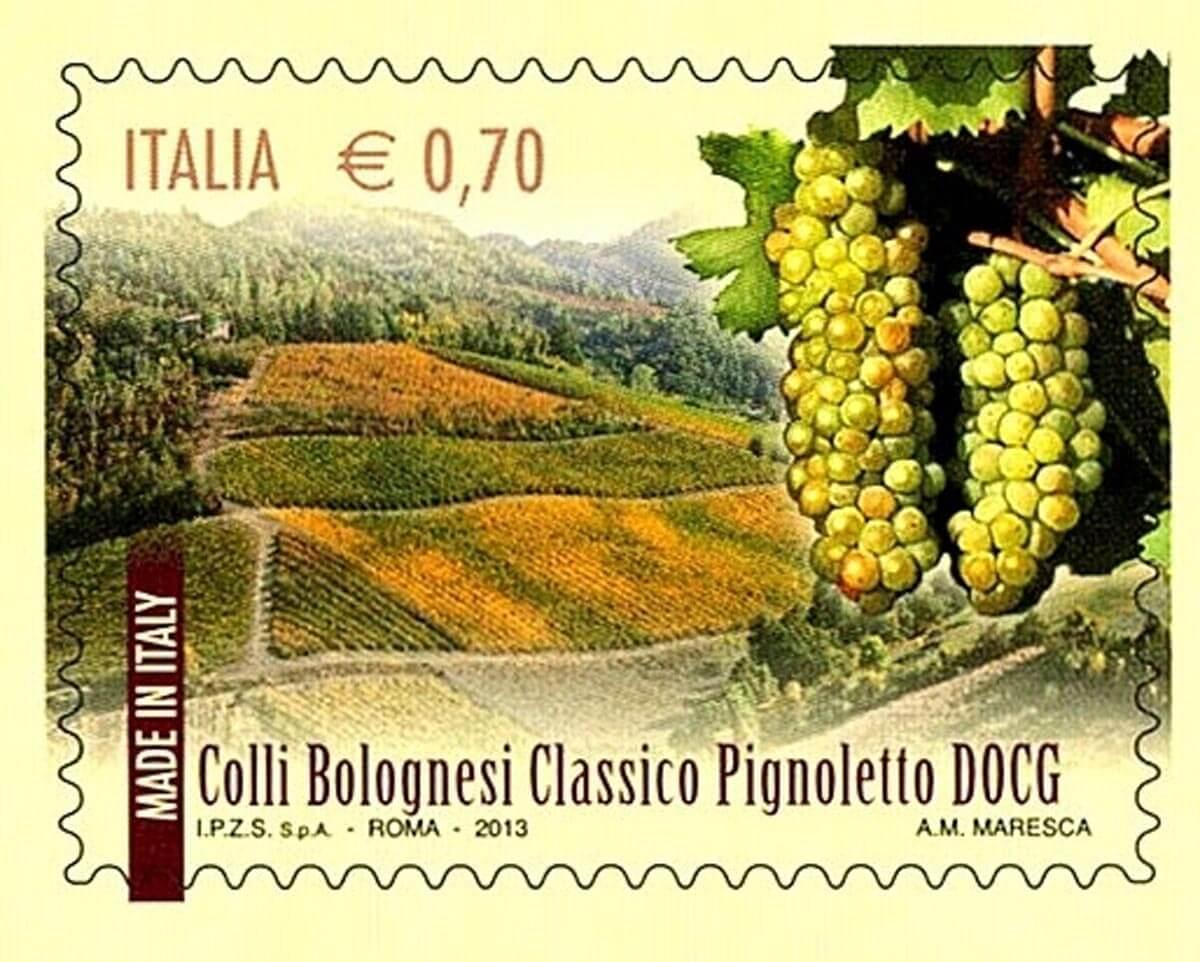 francobollo dedicato al pignolesco