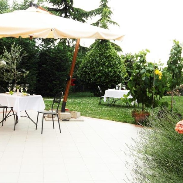 giardino terrazzo estivo