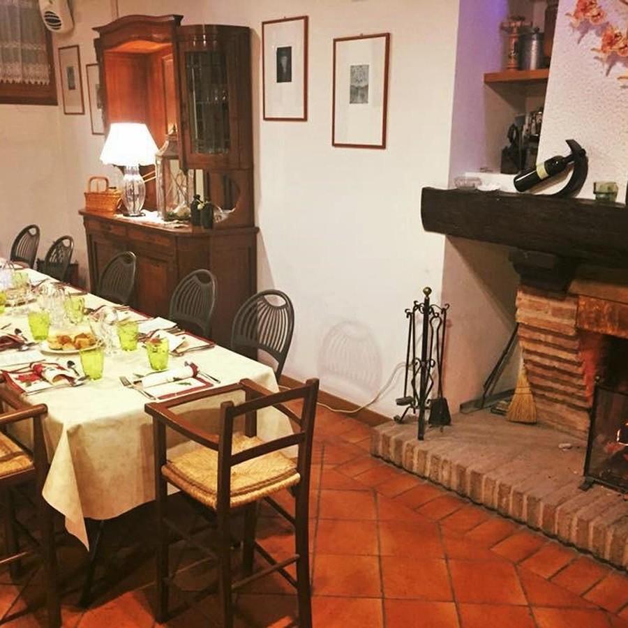 La tavernetta sala da 50 persone nel ristorante Borgo delle Vigne a Zola Predosa