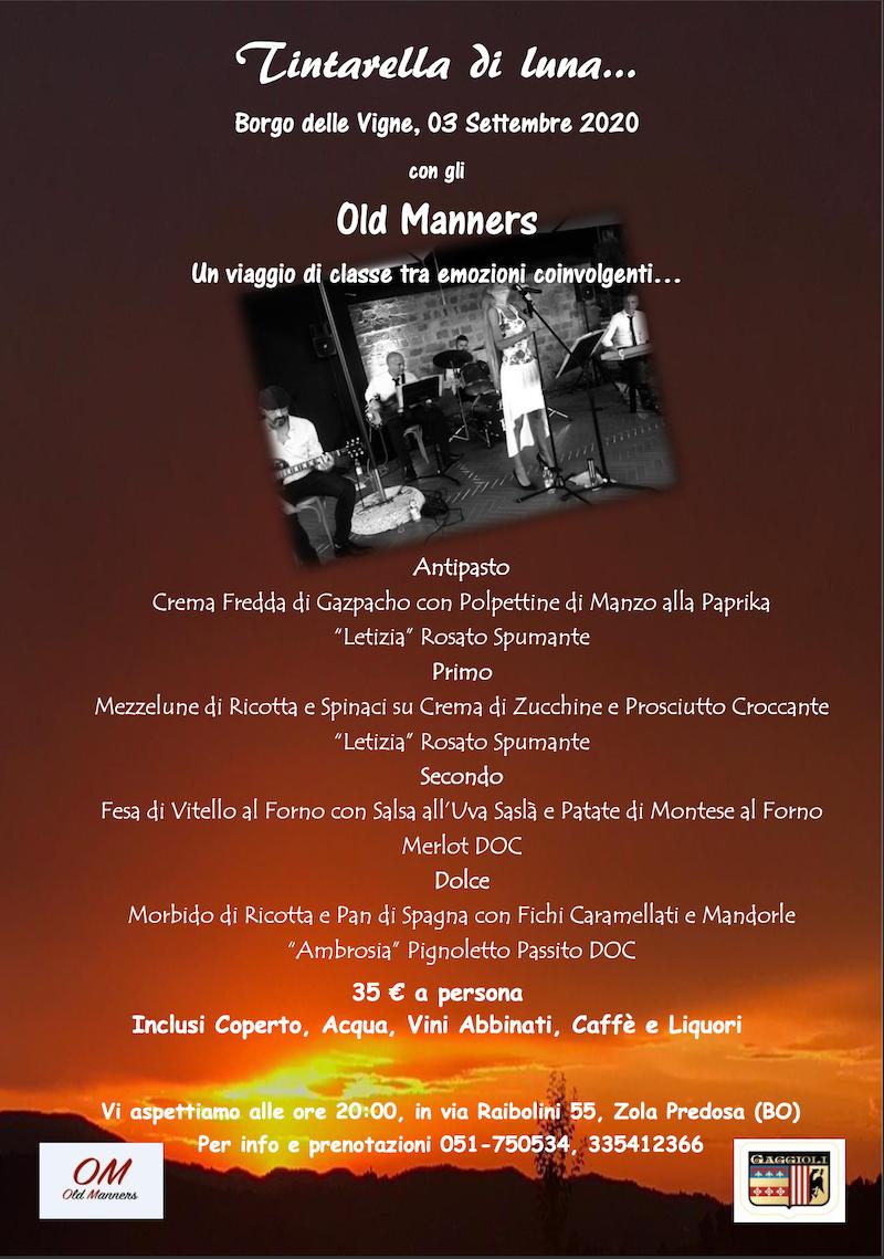 Tintarella di Luna evento cena e musica dal vivi a Zola Predosa