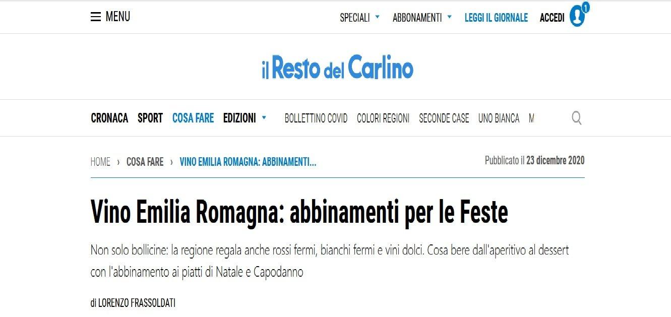 Vini DOC e DOCG Cantina Gaggioli in provincia di Bologna